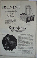 Simplex Ironer The Best Ironer 1920 Ad.
