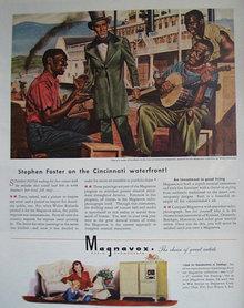 Magnavox Radio Phonograph 1945 Ad.