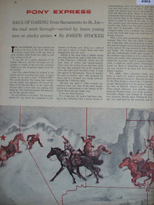 Pony Express 1960 Short Story.