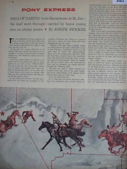 Pony Express 1960 Short Story.