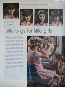 Instant Hairdos For Little Girls 1970 Ad