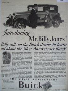 Buick Silver Anniversary 1928 Ad.