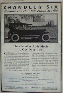 Chandler Motor Car Co. Cleveland, Ohio 1920 Ad.