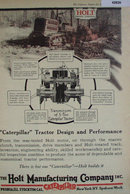 Holt Caterpillar Tractor 1920 Ad