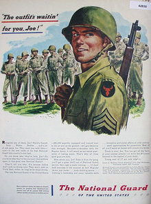 The National Guard Of The United States 1947 Ad