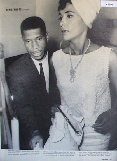 Medgar Evers And Lena Horne 1963 Article.