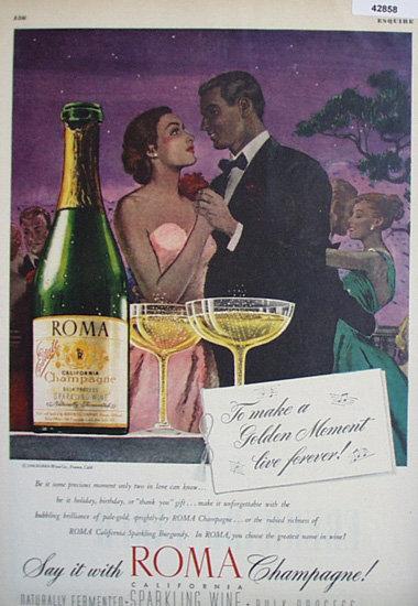 Roma Champagne 1947 Ad.