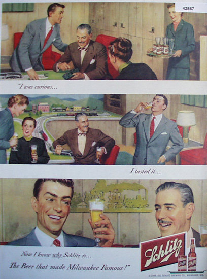 Jos. Schlitz Brewing Co. 1949 Ad