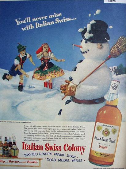 Italian Swiss Colony Wine 1951 Ad
