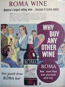 Roma Wine 1951 Ad