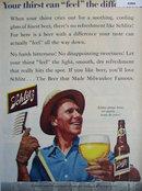 Schlitz Beer 1955 Ad.