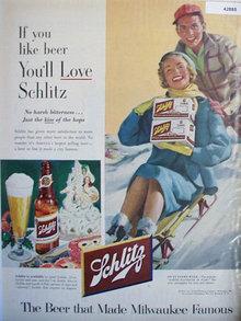 Schlitz Beer 1953 Ad.