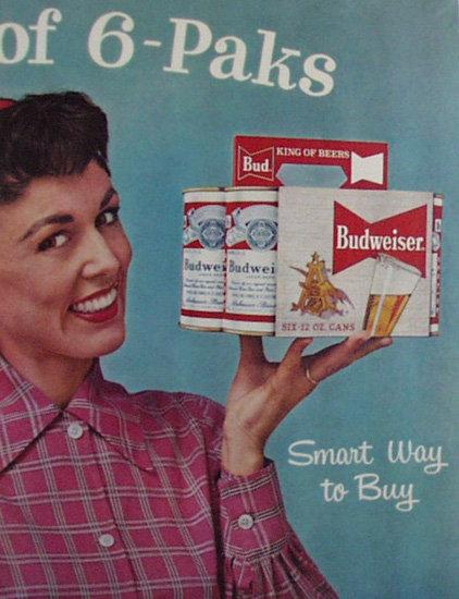 Budweiser Beer 1958 Ad