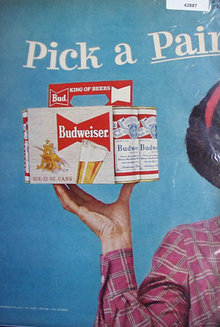 Budweiser Beer 1958 Ad.