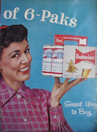 Budweiser Beer 1958 Ad.