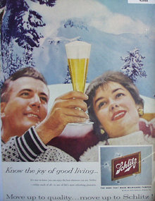 Schlitz Beer That Made Milwaukee Famous 1959 Ad.