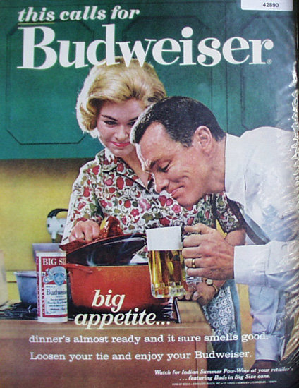 Budweiser Beer 1963 Ad.