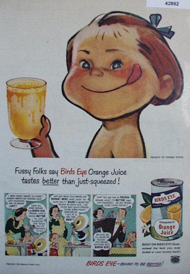 Birds Eye Orange Juice 1950 Ad.