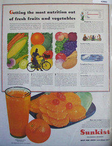 Sunkist California Oranges 1943 Ad