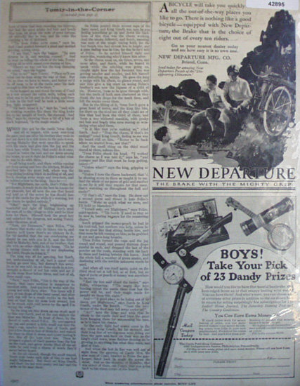 New Departure Bicycle Brakes 1927 Ad.