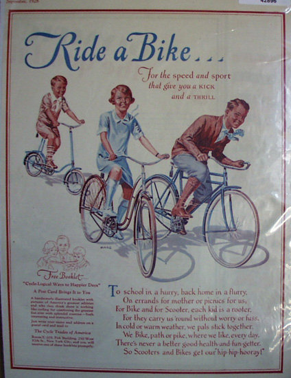 Cycle Trades Of America 1928 Ad.