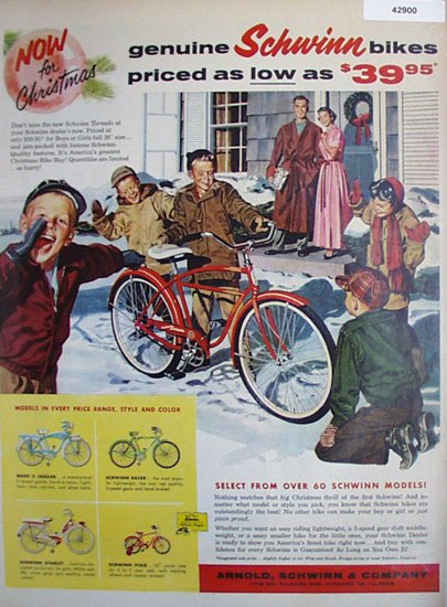 Schwinn Bikes 1957 Ad.