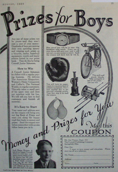 The Crowell Publishing Co. 1929 Ad.