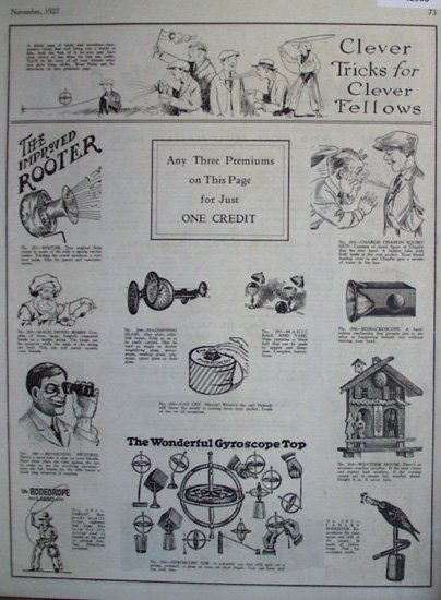 The American Boy Prizes 1927 Ad.