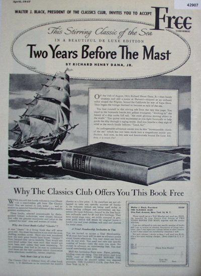 The Classic Club Books 1947 Ad