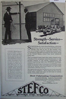 Stefco Sectional Steel Buildings 1920 Ad.
