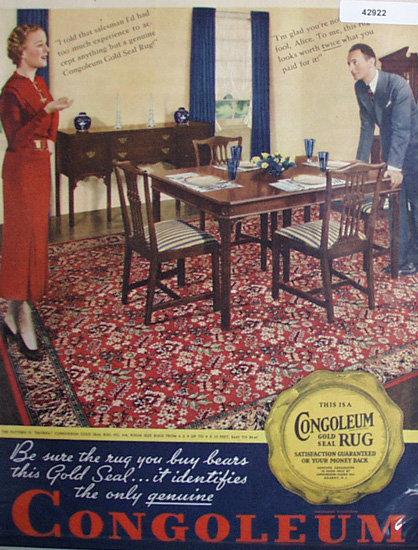 Congoleum Rug 1935 Ad.