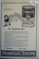 Campbells Condensed Vegetable Soup 1920 Ad.