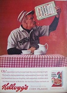 Kelloggs Toasted Corn Flakes 1963 Ad.