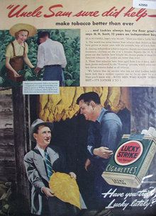 Lucky Strike Cigarettes 1940 Ad