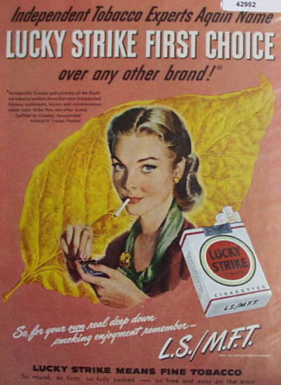 Lucky Strike Cigarettes 1948 Ad.
