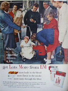 L And M Filter Cigarettes 1963 Ad.