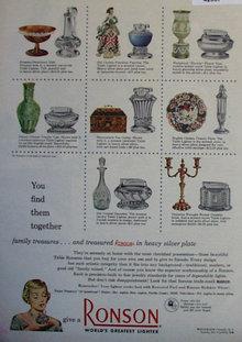Ronson Lighter 1950 Ad