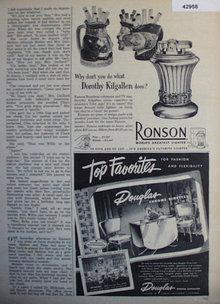 Ronson Lighter 1952 Ad.