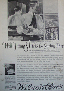 Wilson Brothers Shirts 1920 Ad