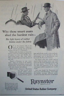 U.S. Rubber Co. Raynster 1920 Ad.