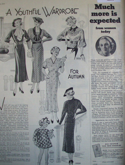 Womens And Girls Dresses 1935 Article