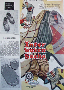 Inter Woven Socks 1950 Ad.