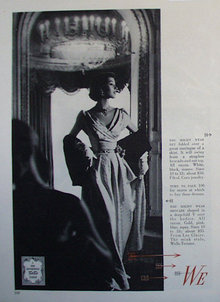 Good Housekeeping Facts First Fashions 1950 Ad.