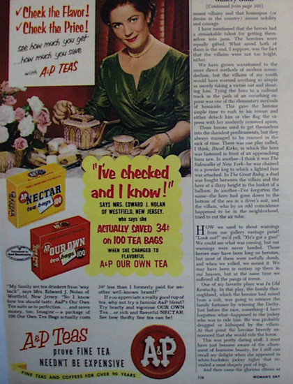 A And P Tea 1953 Ad
