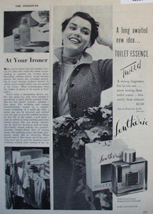 Lentheric Toilet Essence Tweed 1950 Ad.