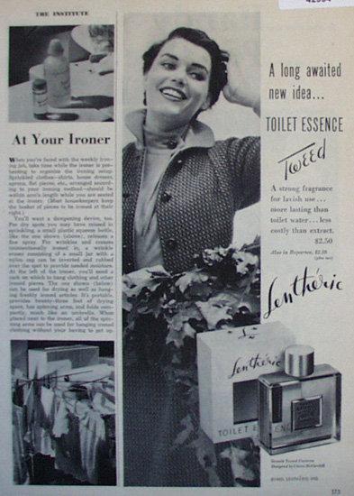 Lentheric Toilet Essence Tweed 1950 Ad.