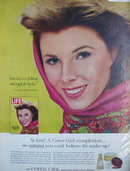 Cover Girl Medicated Make Up By Noxzema 1963 Ad.