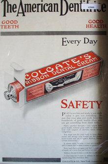 Colgates Ribbon Dental Cream 1914 Ad.