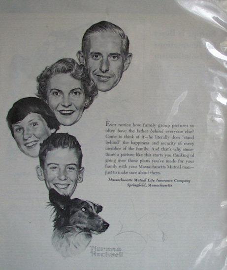 Massachusetts Mutual Life Insurance Co. 1952 Ad