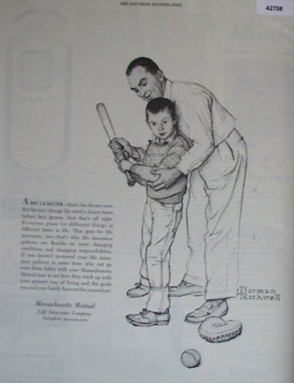 Mass.. Mutual Life Insurance Co. 1954 Ad